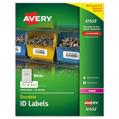 Avery(R) Durable Permanent ID Labels with TrueBlock(R) Technology