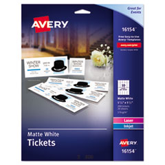 Avery(R) Printable Tickets with Tear-Away Stubs