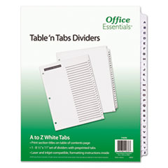 Office Essentials(R) Table 'n Tabs Dividers