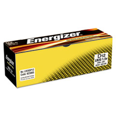 Industrial Alkaline Batteries, D, 12 Batteries/Box