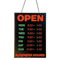 Artistic(R) Programmable Open Sign with Business Hours