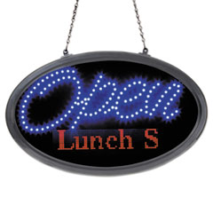Artistic(R) LED Oval Open Sign with Programmable Message