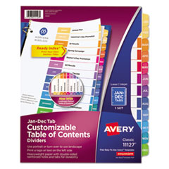 Avery(R) Ready Index(R) Customizable Table of Contents Multicolor Dividers