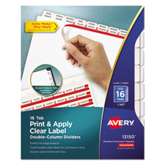 Avery(R) Index Maker(R) Print & Apply Clear Label Double Column Dividers