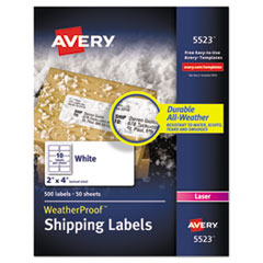 Avery(R) WeatherProof(TM) Durable Mailing Labels with TrueBlock(R) Technology
