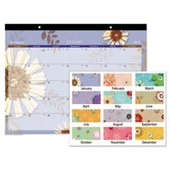 AT-A-GLANCE(R) Paper Flowers Desk Pad