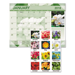 AT-A-GLANCE(R) Antique Floral Monthly Desk Pad Calendar