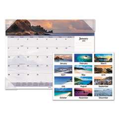 AT-A-GLANCE(R) Images of the Sea Monthly Desk Pad Calendar