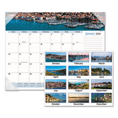 AT-A-GLANCE(R) Harbor Views Panoramic Desk Pad