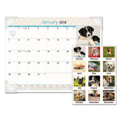 AT-A-GLANCE(R) Puppies Monthly Desk Pad Calendar