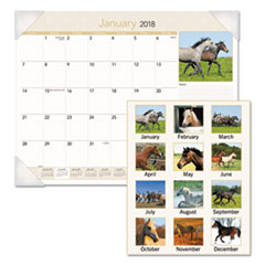 AT-A-GLANCE(R) Horses Monthly Desk Pad