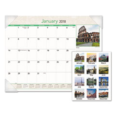 AT-A-GLANCE(R) European Destinations Desk Pad Calendar