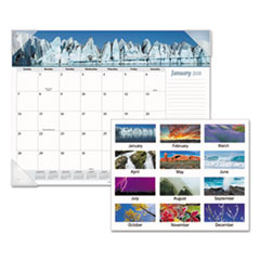 AT-A-GLANCE(R) Mother Nature Recycled Monthly Desk Pad