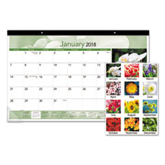 AT-A-GLANCE(R) Floral Compact Monthly Desk Pad