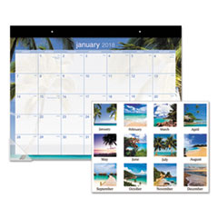 AT-A-GLANCE(R) Tropical Escape Desk Pad