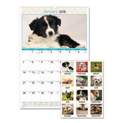AT-A-GLANCE(R) Puppies Monthly Wall Calendar