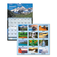 AT-A-GLANCE(R) Scenic Monthly Wall Calendar