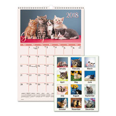 AT-A-GLANCE(R) Kittens Wall Calendar