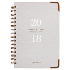 AT-A-GLANCE(R) Light Gray Wirebound Weekly/Monthly Planners