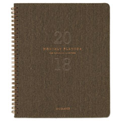 AT-A-GLANCE(R) Signature Collection(TM) Olive Green Monthly Planner