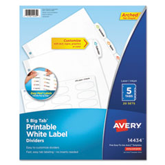 Avery(R) Big Tab White Label Tab Dividers