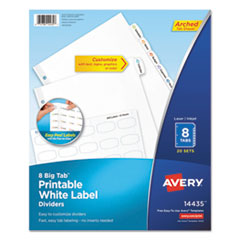 Avery(R) Big Tab White Label Tab Dividers