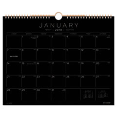 AT-A-GLANCE(R) Black Paper Wall Calendar