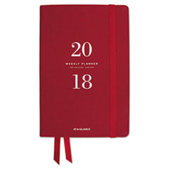 AT-A-GLANCE(R) Signature Collection(TM) Weekly Monthly Red Perfect Bound Planner