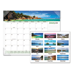AT-A-GLANCE(R) Seascape Panoramic Desk Pad