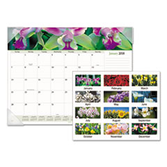 AT-A-GLANCE(R) Floral Panoramic Desk Pad