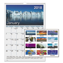 AT-A-GLANCE(R) Mother Nature Monthly Wall Calendar
