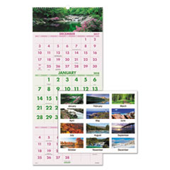 AT-A-GLANCE(R) Scenic Three-Month Wall Calendar