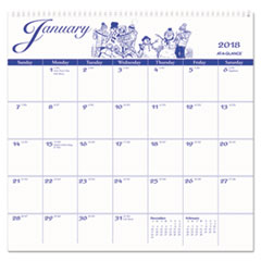 AT-A-GLANCE(R) 12-Month Illustrator�s Edition Wall Calendar
