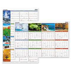 "AT-A-GLANCE(R) �Seasons in Bloom"" Vertical/Horizontal Erasable Wall Planner"