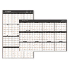 AT-A-GLANCE(R) Contemporary Two-Sided Yearly Erasable Wall Planner