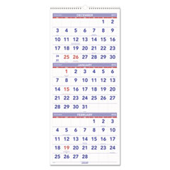AT-A-GLANCE(R) Deluxe Three-Month Reference Wall Calendar
