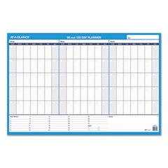 AT-A-GLANCE(R) 90/120-Day Undated Horizontal Erasable Wall Planner
