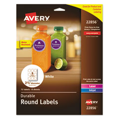 Avery(R) Durable White Round ID Labels