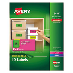 Avery(R) High-Visibility ID Labels