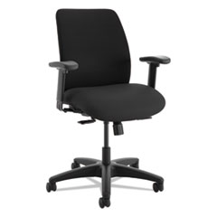 ComfortSelect A9 High-Back Task Chair, Black, Fabric