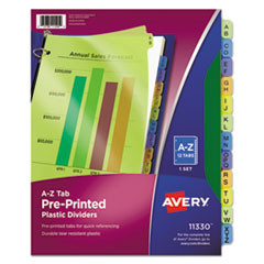 Avery(R) Preprinted Plastic Tab Dividers