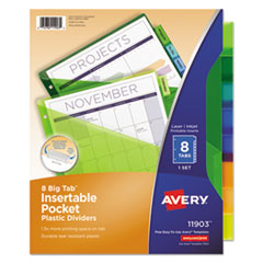 Avery(R) Insertable Big Tab(TM) Plastic Single-Pocket Dividers