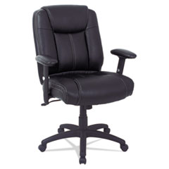 Alera(R) CC Series Executive Mid-Back Leather Chair with Adjustable Arms