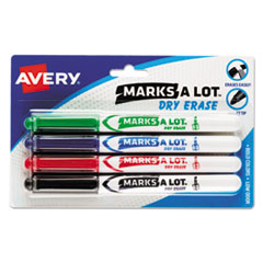 Avery(R) MARK A LOT(R) Pen-Style Dry Erase Markers