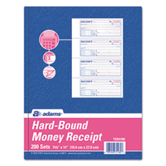 Adams(R) TOPS(TM) 3-Part Hardbound Receipt Book