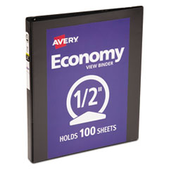 Avery(R) Economy View Binder with Round Rings