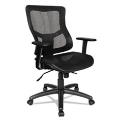 Alera(R) Elusion(R) II Series Suspension Mesh Mid-Back Synchro with Seat Slide Chair