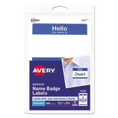 Avery(R) Printable Self-Adhesive Name Badges