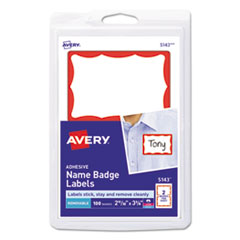 Avery(R) Printable Self-Adhesive Name Badges