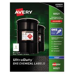 Avery(R) UltraDuty(TM) GHS Chemical Waterproof & UV Resistent Labels